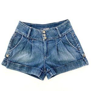 Hudson Cuffed High Waisted Jean Shorts 30
